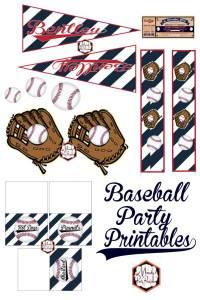Baseball Party Printables via Mandy's Party Printables