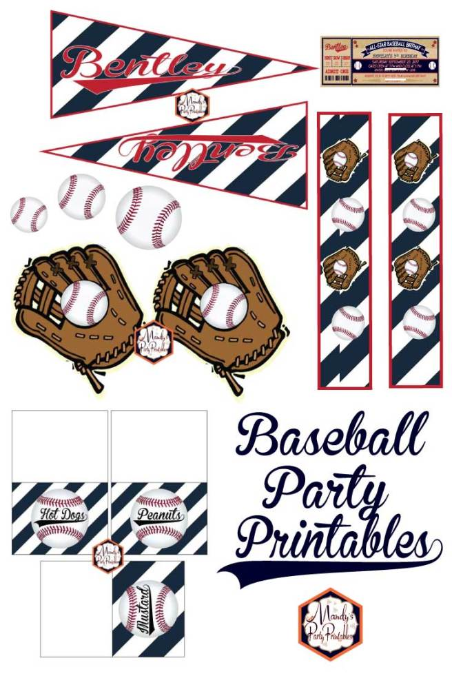 Baseball Party Printables via Mandy's Party Printables