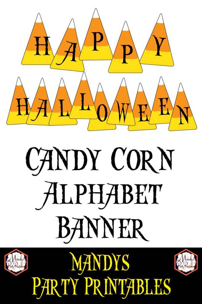 Free Printable Candy Corn Banner via Mandy's Party Printables