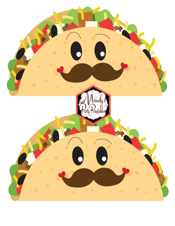 Boy Tacos from a Taco Bout Love Valentine Taco Party | Mandy's Party Printables #valentineparty #tacoparty #tacoboutlove #ilovetacos #MPP #fiesta
