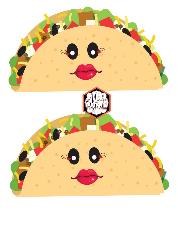 Girl Tacos from a Taco Bout Love Valentine Taco Party | Mandy's Party Printables #valentineparty #tacoparty #tacoboutlove #ilovetacos #MPP #fiesta