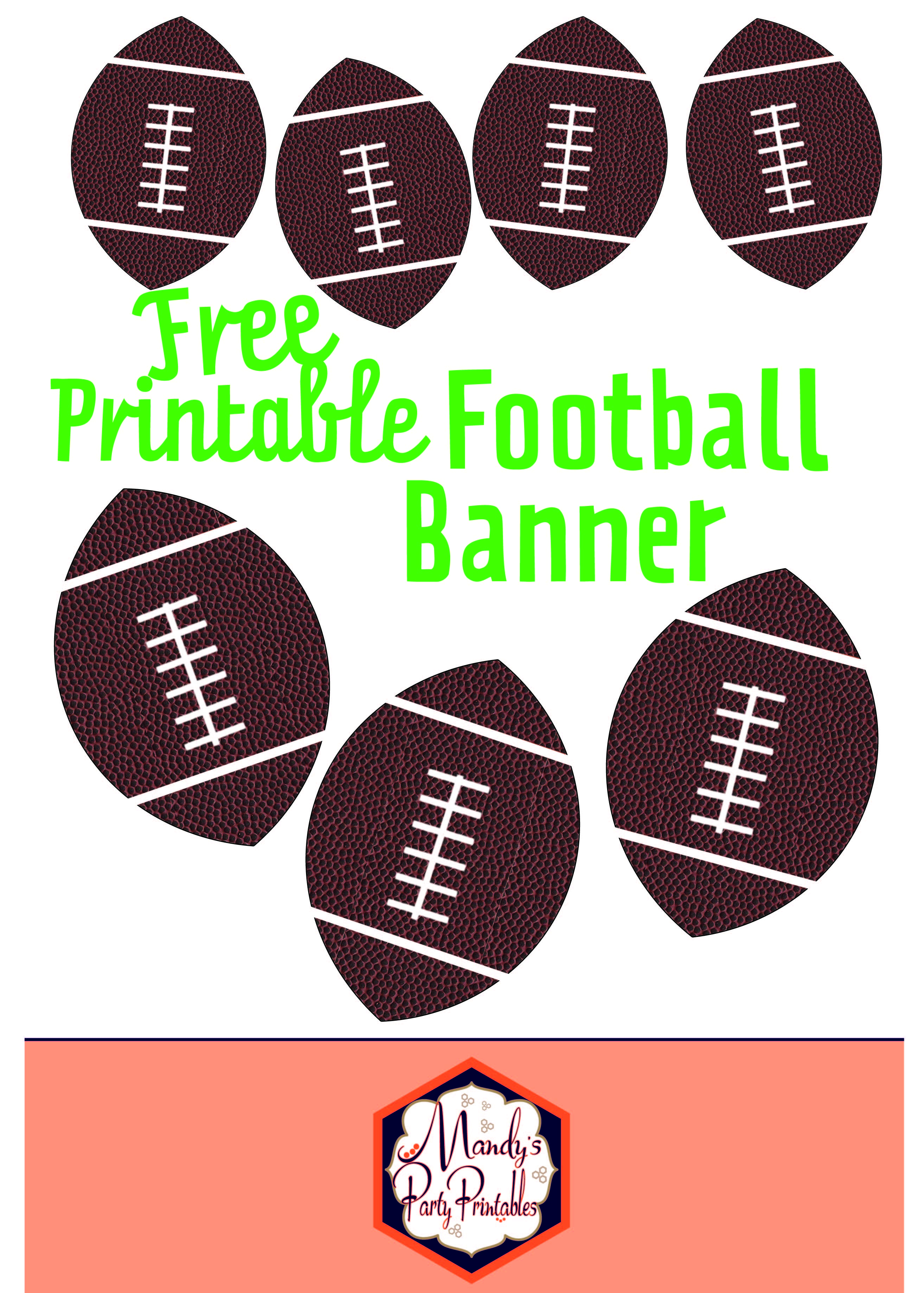image relating to Printable Football called Absolutely free Printable Soccer Banner