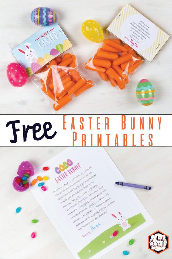 Easter Bunny Printables via Mandys Party Printaables