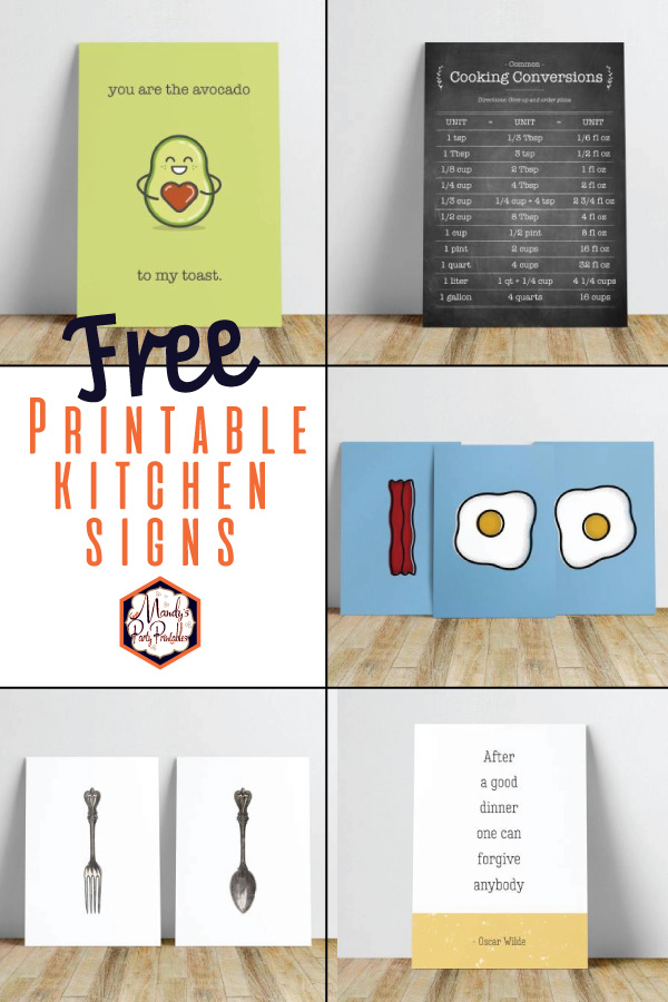 Printable Kitchen Signs {FREE} |