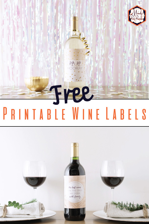 image relating to Printable Wine Bottle Label identified as 6 Printable Wine Bottle Labels