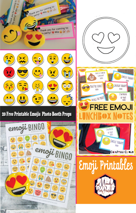 Free Emoji Printables Collection