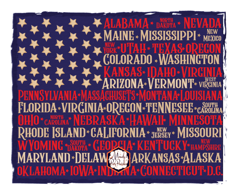 graphic regarding Printable Flag named Cost-free Printable 4th of July Flag