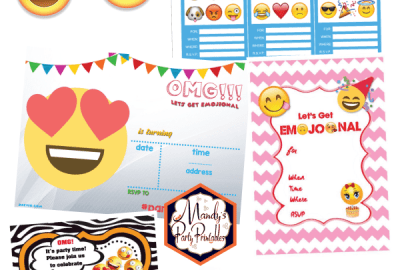 free printable emoji birthday invitation archives