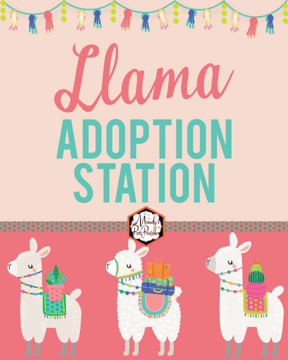 picture regarding Llama Printable called Absolutely free Llama Adoption Bash Printables