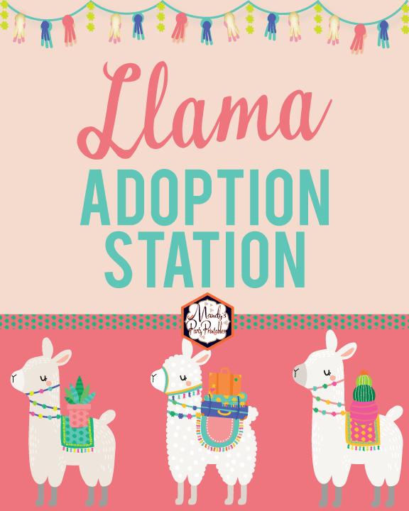 picture regarding Llama Printable called Absolutely free Llama Adoption Bash Printables