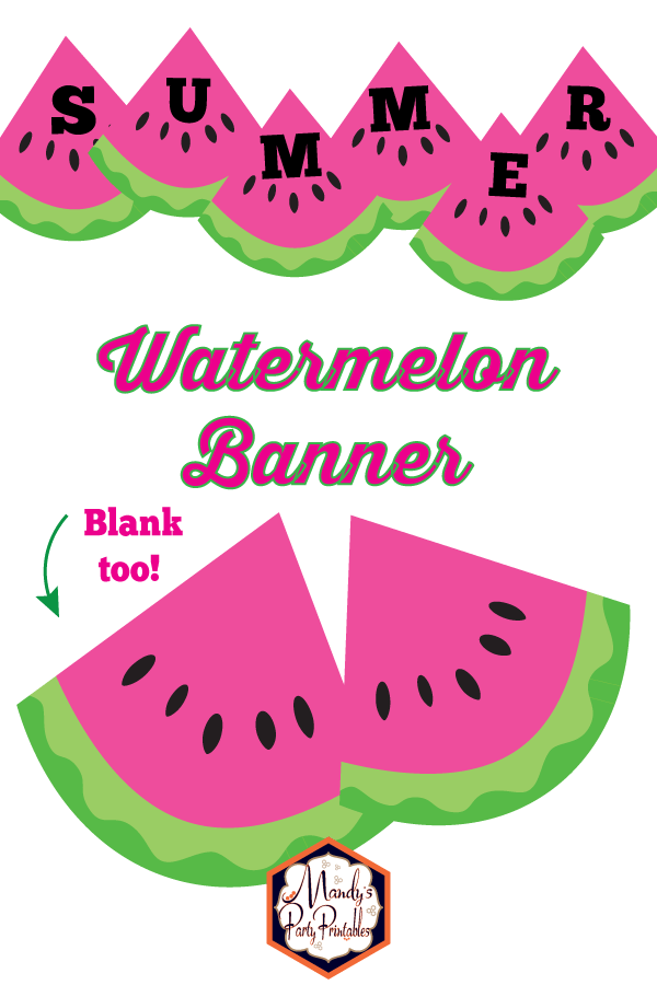 photo regarding Watermelon Printable known as watermelon banner Archives