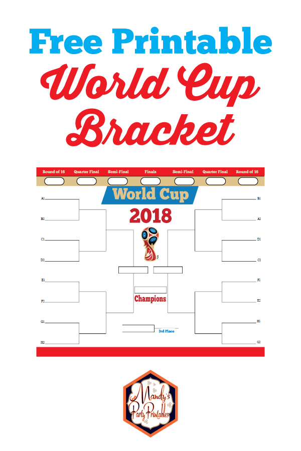 picture relating to Printable World Cup Bracket titled Environment Cup Printable Bracket