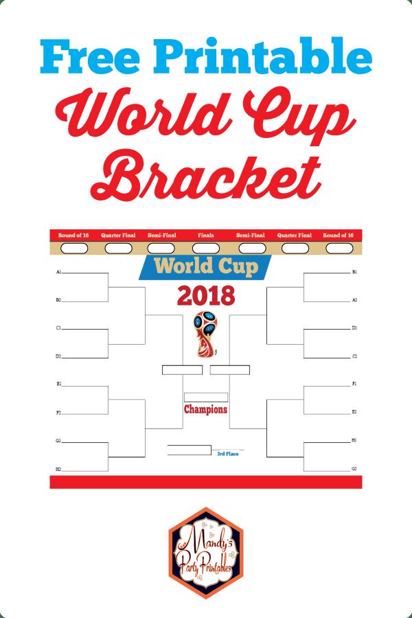 picture regarding World Cup Printable Bracket named Global Cup Printable Bracket