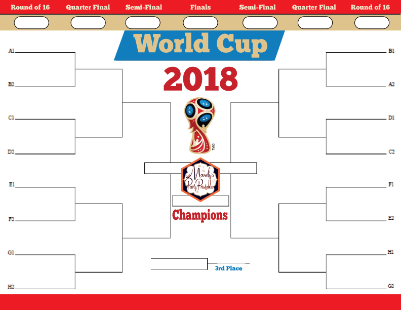 Bright image within world cup printable bracket