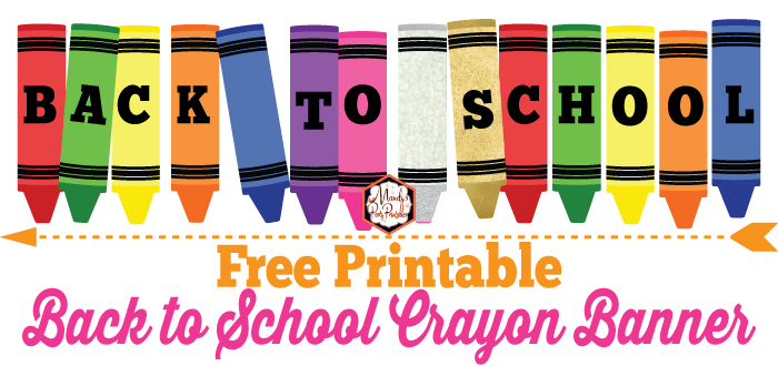 image relating to Crayon Printable known as Totally free Printable Back again towards College Crayon Banner