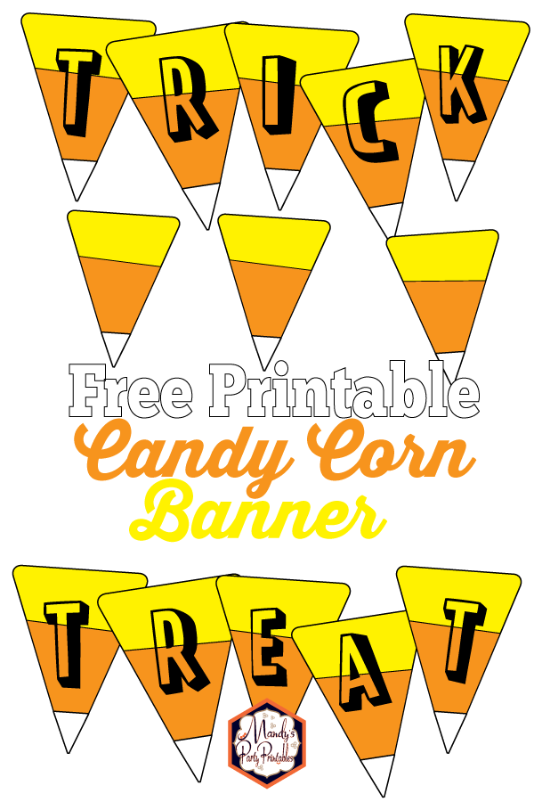 graphic regarding Candy Corn Printable known as Sweet Corn Banner Free of charge Printable