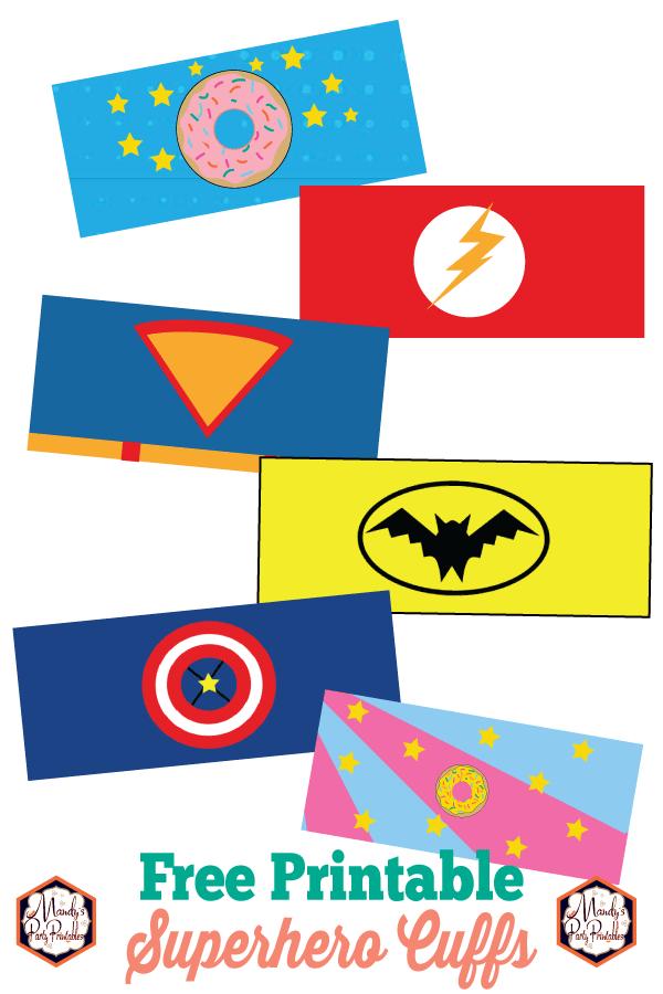 photo regarding Free Printable Superman Template named Absolutely free Printable Superhero Cuffs