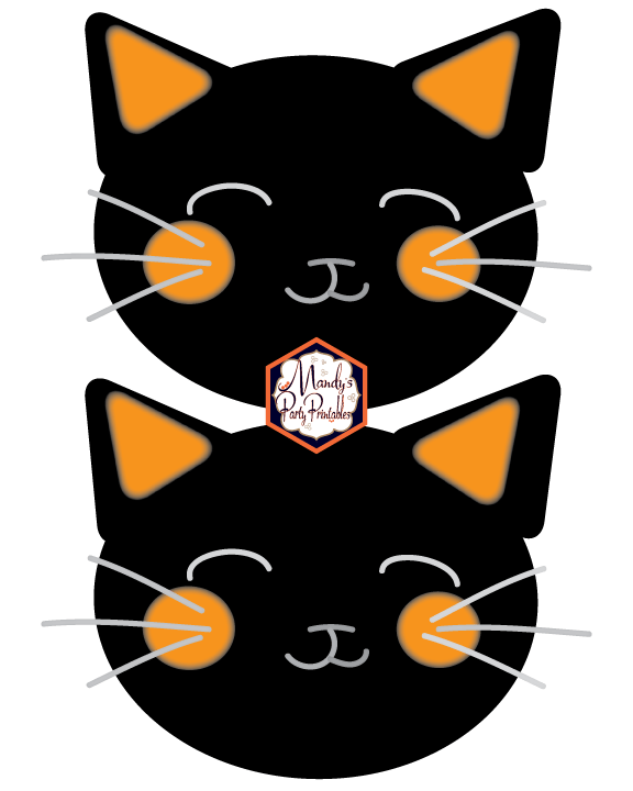 image relating to Printable Cats called Halloween Cat Banner Absolutely free Printable