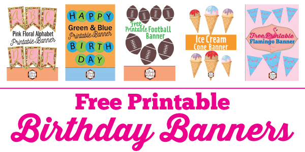 Free Printable Birthday Banner Ideas Mandy S Party Printables