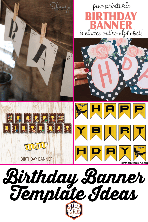 Birthday Banner Template Ideas Mandy S Party Printables