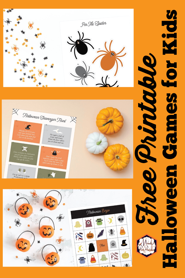 photograph relating to Printable Halloween Games Adults identified as Totally free Printable Halloween Game titles for Small children and Older people!