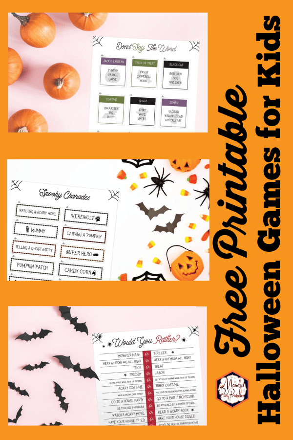 image regarding Printable Halloween Games Adults called Absolutely free Printable Halloween Game titles for Youngsters and Older people!