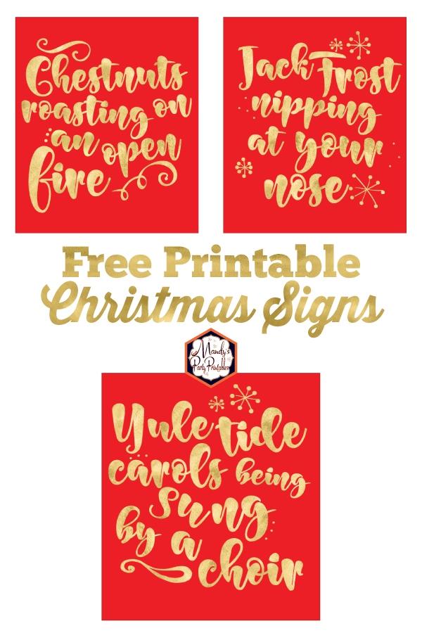 photo about Printable Christmas Signs identified as absolutely free printable xmas symptoms -