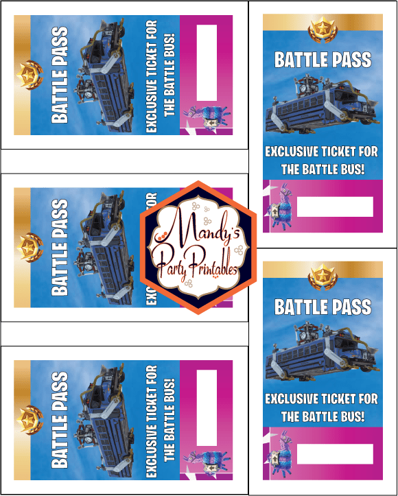 photo regarding Free Printable Vip Pass Template known as Free of charge Printable Fortnite Overcome P Lanyard