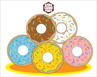 image regarding Donut Printable known as Totally free Donut Printables Archives