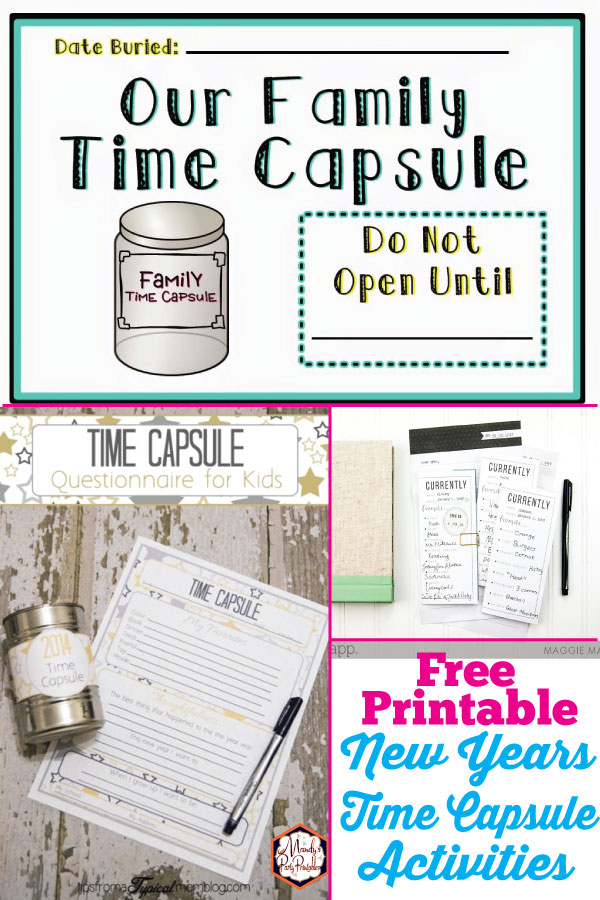 graphic about Time Capsule Printable referred to as No cost Printable Period Capsule Designs