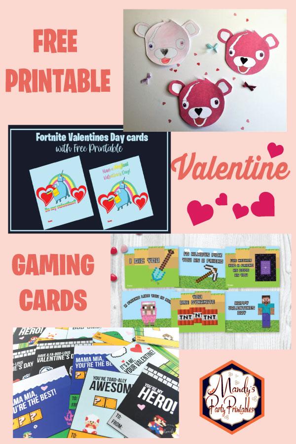 Free Printable Gaming Valentine Cards