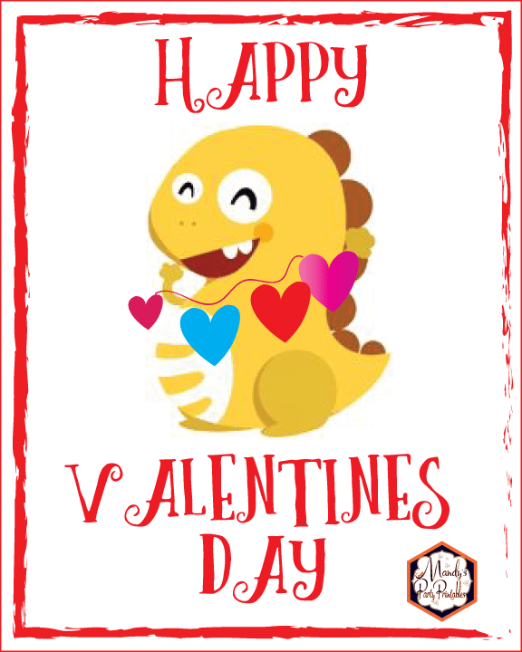 picture about Vipkid Dino Printable named Free of charge Printable VIPKID Valentine Dino Signal