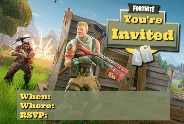 More Free Fortnite Party Printables