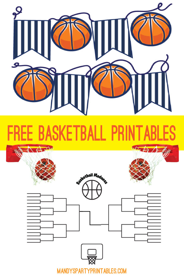 Go Crazy With March Madness Free Printables Mandy S Party Printables
