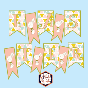 graphic regarding Happy Easter Banner Printable known as Free of charge Printable Banner Archives