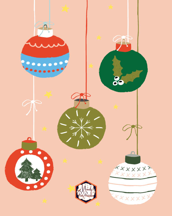 Free Printable Christmas Ornaments.Christmas Signs