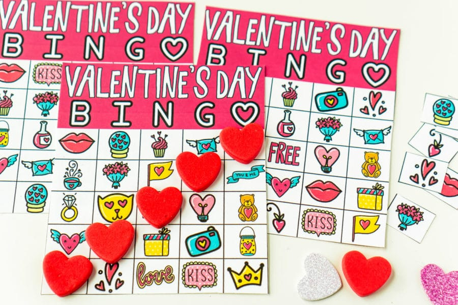 It's just a graphic of Printable Valentine Bingo Cards regarding elementary student