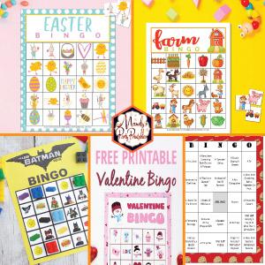 Free Printable Bingo Cards Mandy S Party Printables