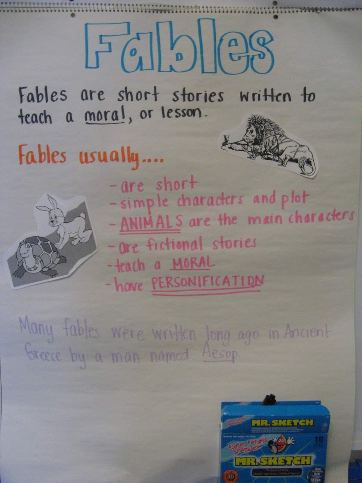 Recounting Fables Freebie Mandy S Tips For Teachers