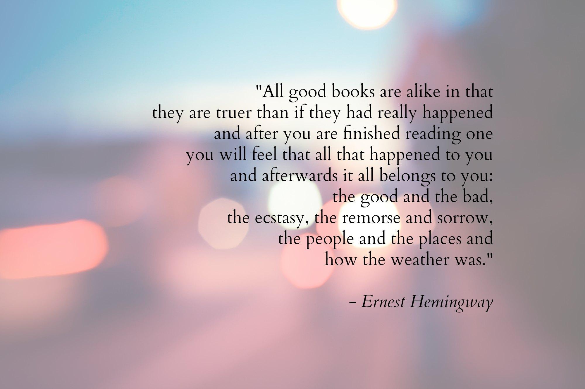 Image: Ernest Hemingway Quote
