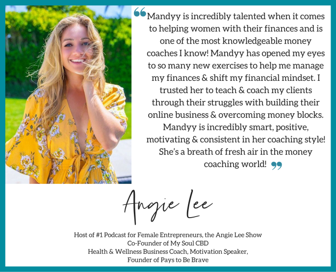 Angie Lee's Money Coaching Testimonial