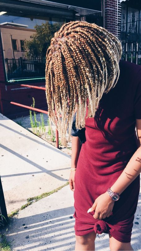 Mane Addicts Short Blonde Box Braids Mane Addicts