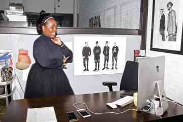 Sharifa Murdock at her Liberty Fairs Soho Office