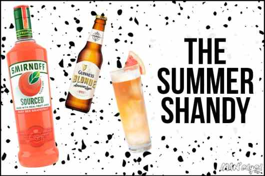 Summer Shandy Cocktail in the MAN'edged Magazine Pitcher Perfect end of summer drink series