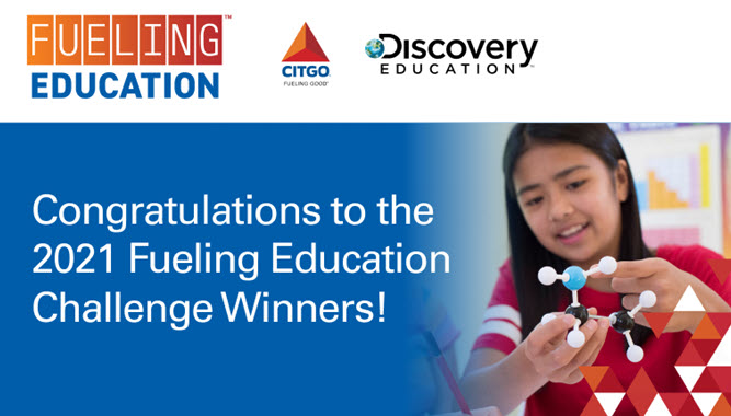 CITGO y Discovery Education anuncian a los ganadores del Desafío de educación de combustible 2021