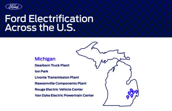 Como cambiará la huella de electrificación de Ford con las inversiones planificadas - TechCrunch