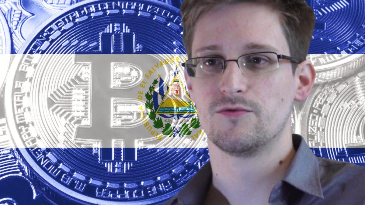 Edward Snowden dice que las naciones competidoras ahora están bajo presión para adquirir Bitcoin después de El Salvador