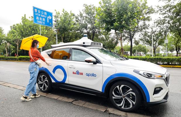 El gigante tecnológico chino Baidu comienza las pruebas públicas del robot de eje Apollo Go en Shanghai
