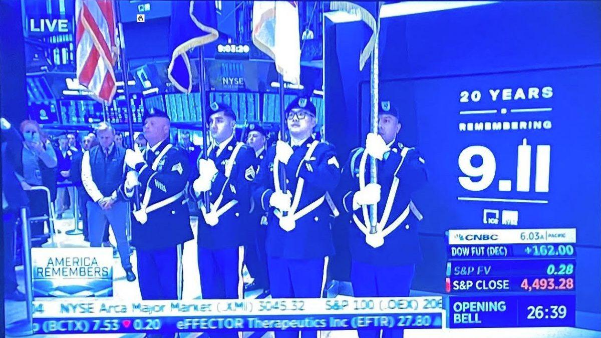 NYSE observa minuto de silencio por las víctimas del 11 de septiembre