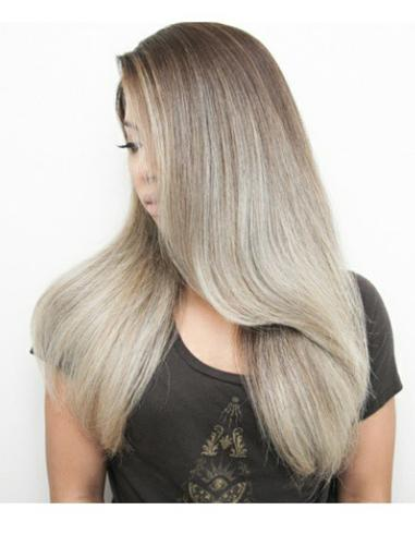 ash ombre hair color